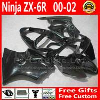 For Kawasaki zx6r fairing - ABS Fairing body kits for ZX636 Kawasaki Ninja ZX6R ZX R ZX R motorcycle fairings set all black Gifts Nh56