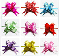 pull bows - Multipattern Color Pull Bow Gift Wrap Flower Wedding Party Decoration Birthday