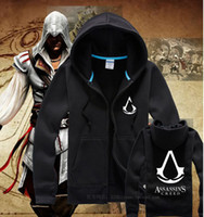 best l cosplay - New Arrival Assassins Creed III Casual Zipper men s Hoodie jacket Adult Unisex Coat Cosplay Costume Best Quality
