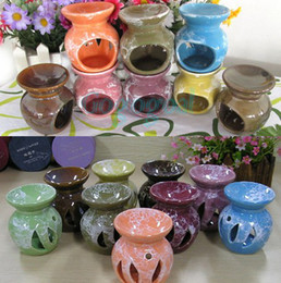 Wholesale Ceramic Fragrance Oil Burners Lavender Aromatherapy Furnace Scent Candle Melt Essential Incense Burner
