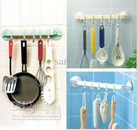Wholesale Rack Suction Cup Wall Hanger Towel Hanging Bedroom Bathroom Sliding five linked Hook