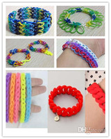rainbow loom - Novelty Games DIY Rainbow Loom Refill Rubber Bands Rainbow Loom Bracelet for kids bands C clips
