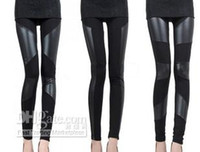 Leggings Skinny,Slim Women Fashion Tights Pants Imitation Leather Slim Style Ankle Length Leggings