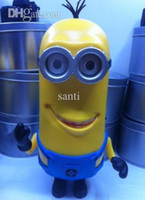 Wholesale New Arrive Minions Speaker Portable DESPICABLE ME Mini Speaker MP3 MP4 Player Amplifier table PC Louderspeaker Portable Micro SD TF Card