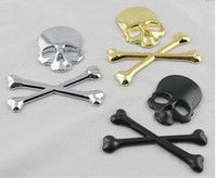Wholesale 3D Personalized Auto label metal skull bone Emblem badges