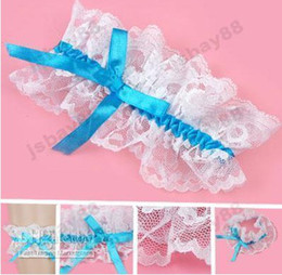 Wholesale Bridal Wedding Toss Prom Ribbon Lace Garter White