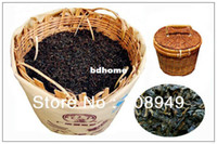 Wholesale 500g Aged Liu Bao Tea years old Post fermented Tea with bamboo basket Guangxi Wuzhou Dark Tea with Jinhua