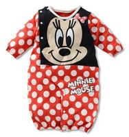 Unisex Spring / Autumn Long Sleeve Wholesale -NEW Baby romper round collar sleeping bag mixed colors bodysuit bargain price pajamas pure cotton jumpers -CDM557H