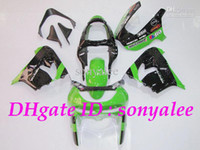 Wholesale Free custom gloss black green body for KAWASAKI Ninja ZX9R ZX R ABS fairing kit amp windscreen e791
