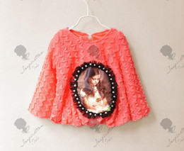 Wholesale New Fashion Children s T shirts Korean Beauty Girl Loose Knittted Shirt Princess Shirt Kids Tshirt