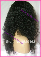 Wholesale Best quality Brazilian Virgin Hair Curly Afro Front Lace Wigs Full Lace Wigs With Baby Hair Bleach Knots Glueless