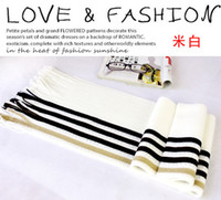 Wholesale New Men Fashion Knit Scarf Warmer Scarves Wool Stripe Scarfs Acrylic Stripes Long Autumn Winter Scarf Casual Shawl