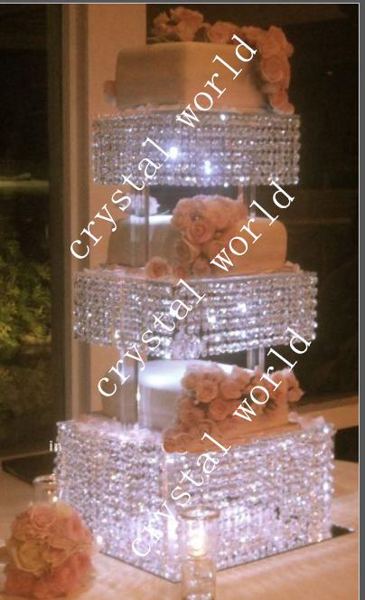 Wedding Table Crystal Chandelier Mental with the Acrylice Strands – Chandelier Wedding Centerpieces