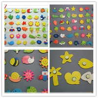Wholesale Children Wooden Toys Toddler Educational Toys Baby Wood Toys Cute Wooden Cartoon Fridge Magnet kids Colorful Toys DHL Free