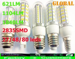 2835 SMD 5W 7W 9W LED Corn Bulb Light cover E27 G9 E14 360 degree Maize Lamp Energy Saving lamp 621LM 1104LM 1840LM 2014 high quality