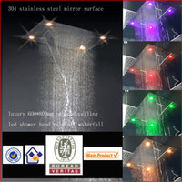Wholesale led shower head mm embeded ceiling mounted led shower head electric power led light shower head