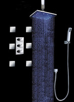 Wholesale 12 inches concealed shower led shower rainfall sets with body jets