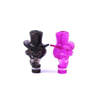 Wholesale 510 D Cowboy Skull Plastic Drip Tips fit CE5 MT3 Protank atomizer Electronic