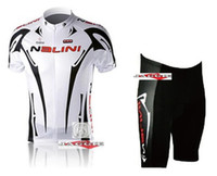 Wholesale Nalini cycling jersey racing team cycling jersey and shorts short sleeve jerseys pants bike bicycle riding wear set