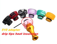Wholesale 510 adapter Acrylic drip tips heat insulation for electronic cigarette atomizer drip tip