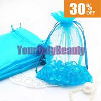 aqua gift bags - Hot Sale x15cm Aqua Blue Organza Bag Wedding Favor Party Gift Candy Bag