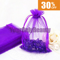 Wholesale Hot Sale x15cm Purple Organza Bag Wedding Favor Party Gift Candy Bag