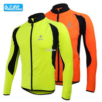 Wholesale 2013 new ARSUXEO winter warm fleece zipper running riding bike jersey Cycling Jackets long sleeved coat cycling clothing