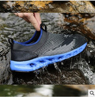 Wholesale Hot sale Summer outdoor hiking shoes Full length Air Sole sports shoes mesh wading shoes mens breathe running shoes D01