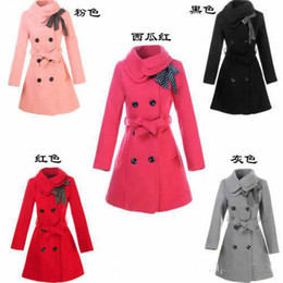 Wholesale Hot Women s Double breasted Luxury Wool coat in