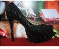 PU High Heel Women 9 12 14 16CM prom heels wedding shoes women high heels crystal high heel shoes woman platforms silver rhinestone platform pumps---1