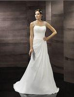 A-Line split shorts - vestidos summer flattering ruching trumpet silhouette softly sweetheart Swarovski straps plus size white wedding dresses
