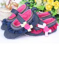 Wholesale Baby prewalker popular style Flouncing baby toddler shoes love bowknot two design TJ X0095