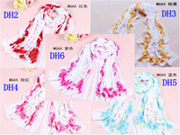Wholesale 50pcs High quality Rose red Ladies fashion chiffon long scarf Women s spring and summer sun beach scarf Birthday Gift Sarongs