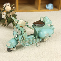 Wholesale excellent model home decorations metal crafts furniture wrought iron ornaments mixed batch of vintage motorcycleYY8 YY