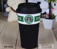 Wholesale The new fine bone china cup of Starbucks insulated slip large capacity black classic cup creative cupYY8 YY
