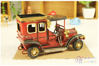 Wholesale Gifted fertile creative home decorations ornaments made of old tin metal crafts retro car lords carYY8 YY