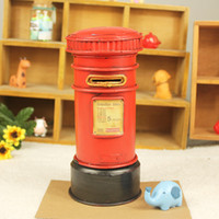 Wholesale excellent metal crafts home decorations ornaments retro styling mailbox piggy cheap mixed batchYY8 YY