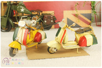 Wholesale old Iron excellent home made crafts and creative gift tin ornaments retro mini motorcycle modelYY8 YY