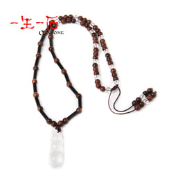 Wholesale 3a natural ziziphus quartz necklace red white kidney bean pendant certificate