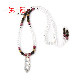 Wholesale 3a natural white crystal tourmaline necklace inlaying mm white kidney bean pendant