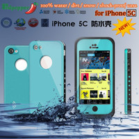 For Apple iPhone 5C   2013 Promotion!!! New High quality Redpepper Waterproof Shockproof Snow Dirtproof Cover Case For iphone 5C cases 10 Colors goodbiz