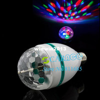Wholesale Full Color W E27 RGB LED Crystal Stage Light DJ party stage Light Bulb Lamp Atmosphere Lamp