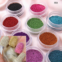 beautiful fingernails - 2015 Trendy Nail Art Fingernail Decoration Colors Beautiful Caviar Nail Art Mini Beads HXA