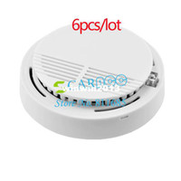 Wholesale 6PCS Hot Photoelectric Wireless Smoke Detector for Fire Alarm Sensor