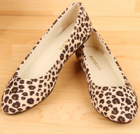 Wholesale 2014Wholesale NEWEST sexy comfortable women spring flat shoes soft and comfortable office shoes dress shoes summer lady shoes leopard print