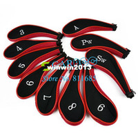 Wholesale 1set Golf Club Iron Putter Head Cover HeadCovers Protect Set Neoprene H8811 Drop shipping