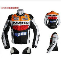 Wholesale DUHAN REPSOL PU leather motorcycle jacket racing jacket M XXL leather jacket motorcycle
