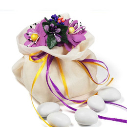 Dia 7cm Creative Color Flower Top MINI Gauze Candy Bag Dried Flower Aromatherapy Sachet Containers 20pcs lot CK083