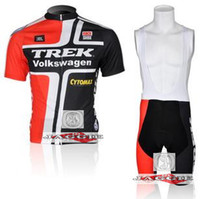 Wholesale Trek bike wear team cycling jersey and bib shorts short bib pants bike bicycle riding wear clothes set