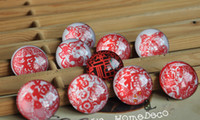 Wholesale Creative magnetic glass Fridge magnets China wind Art Paper cutting cm